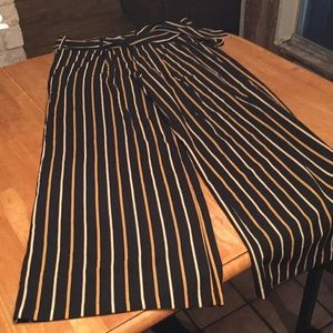 A. Calin By Flying Tomato striped wide leg pants